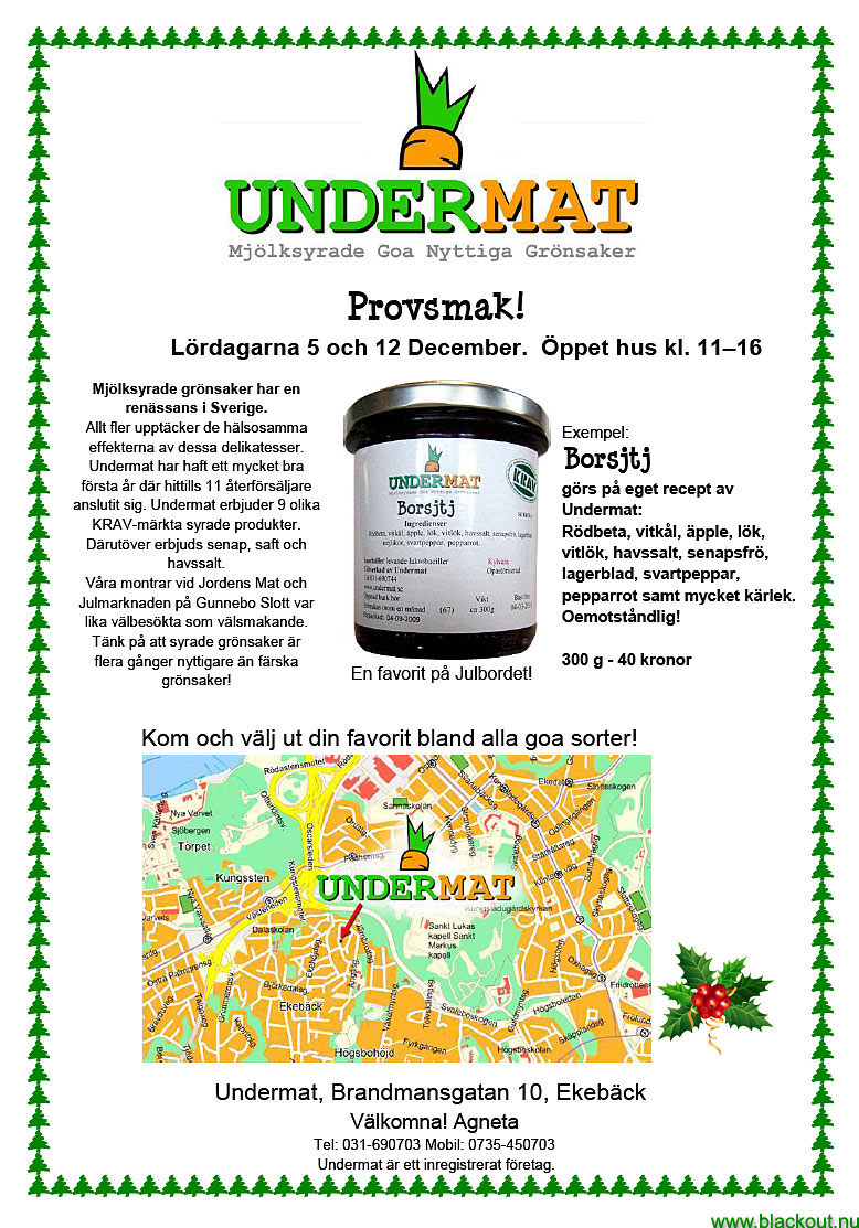In Sweden at least. December 4